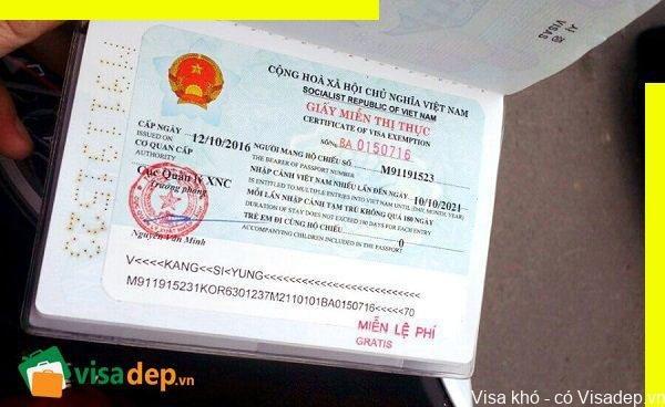 Cập nhật mẫu đơn xin miễn thị thực 5 năm mới nhất 2020