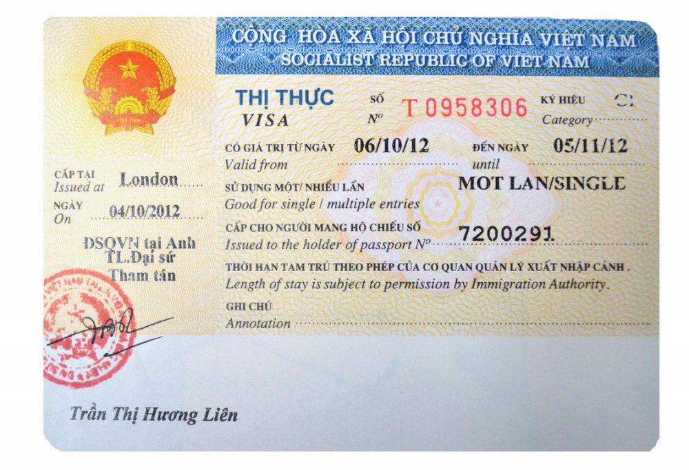 Xin Visa Việt Nam Online