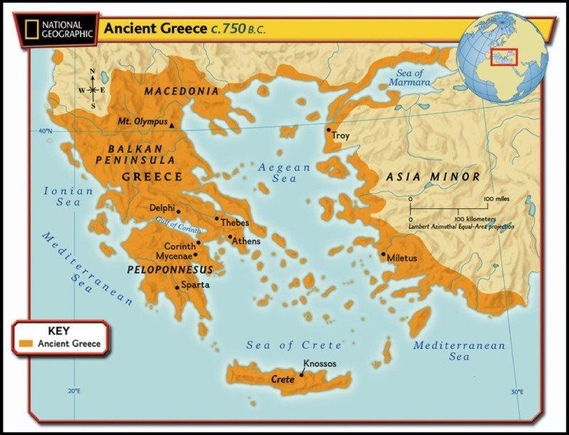 Tìm hiểu về Hy Lạp : Đất nước về truyền thuyết cổ đại