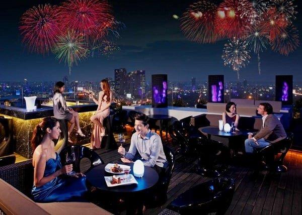 Địa điểm đón giao thừa ở Bangkôk, các quán bar sân thượng