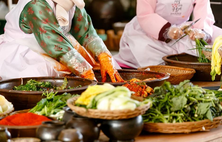 truyền thống muối kimchi